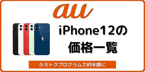 au iPhone12 iPhone12 Pro