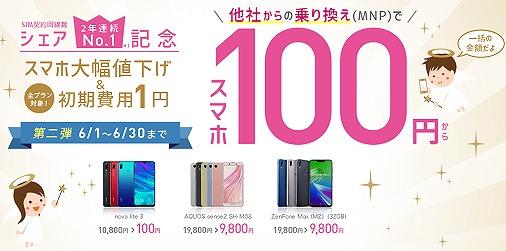 IIJmioキャンペーン 100円セール