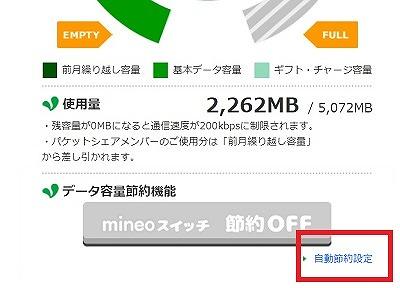 mineo節約モード
