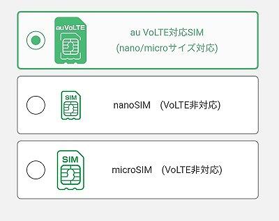 mineo Aプラン SIMサイズ