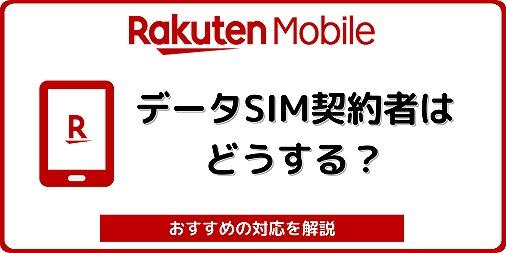 楽天モバイル ドコモ回線 au回線 データSIM