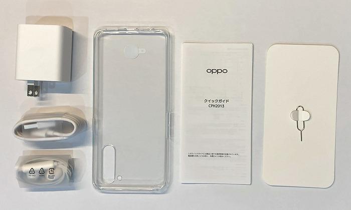 楽天モバイル OPPO Reno3 A 付属品 同梱品
