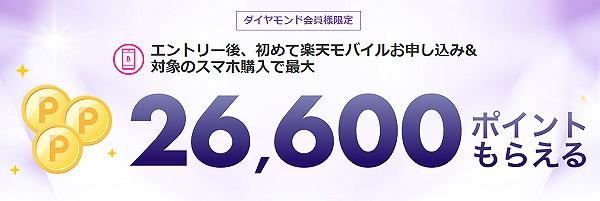 楽天ダイヤモンド会員 楽天モバイル キャンペーン