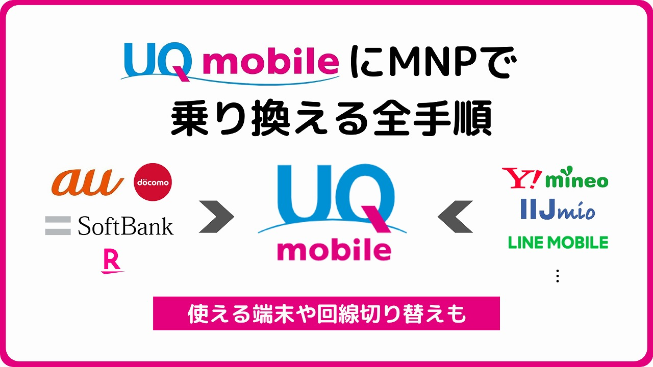 UQモバイル MNP転入 MNP 乗り換え