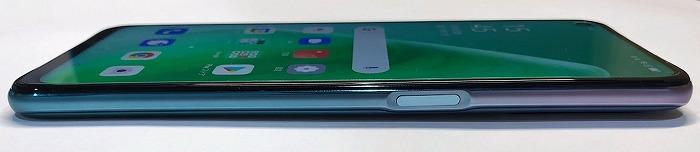 UQモバイル OPPO A54 5G 電源ボタン 指紋認証センサー