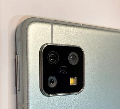UQモバイル AQUOS sense5G アウトカメラ おサイフケータイ