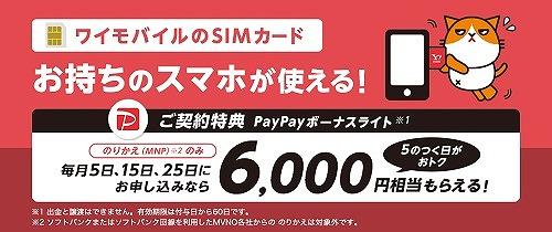 ヤフーモバイルSIMのみキャンペーン