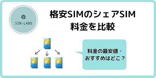 格安SIM シェアSIM 比較