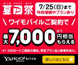 ワイモバイル キャンペーン PayPay ヤフーモバイル