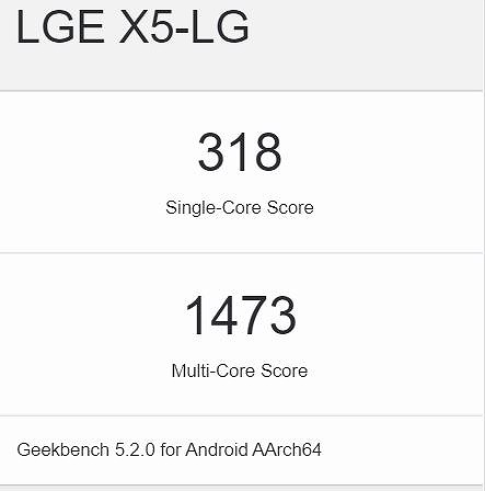 Android One X5 ベンチマーク geekbench