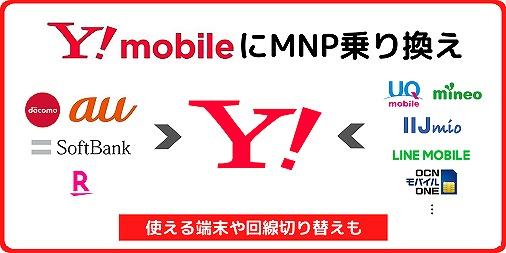 ワイモバイル MNP転入