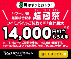 ワイモバイル キャンペーン 3月 超PayPay祭