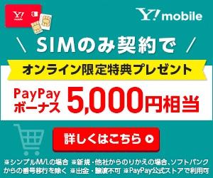 ワイモバイル SIM PayPay キャンペーン