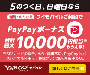 ワイモバイル 5のつく日 日曜日 キャンペーン PayPay