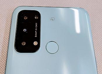 ワイモバイル OPPO Reno5 A カメラ 指紋認証センサー